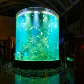 Kina običaj jeftini super veliki okrugli PMMA stakleni akvarijumi jasni cilindar akril riba cisterne