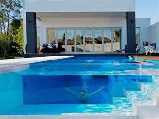 Prilagođeni transparentni akrilni gusti plexiglass pločasti panel za projekat bazena