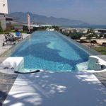 Prozirni plastični krov za bazen