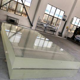 Prozirni prozirni plastični zidni panel od akrilnog lima